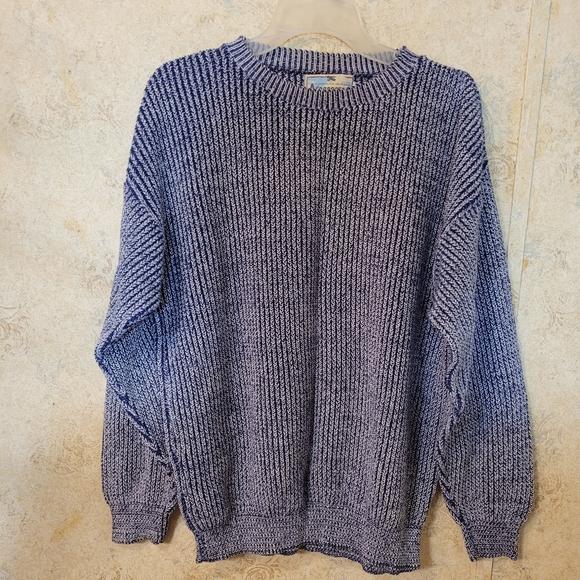 Aeropostale Blue&White Oversized Cotton  Sweater